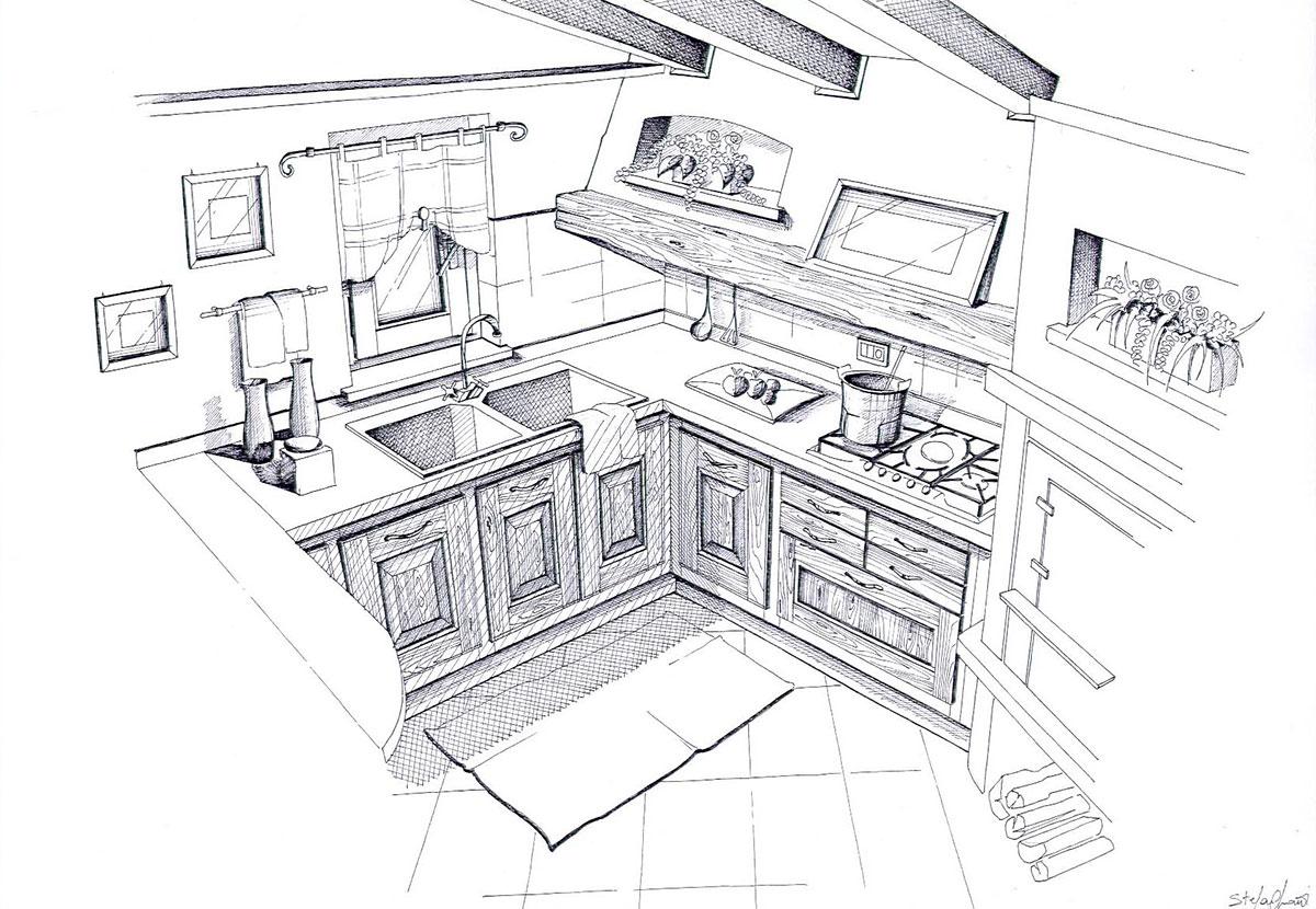 Disegni di cucine eb16 regardsdefemmes for Disegni mobili
